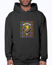 Load image into Gallery viewer, Clan Forrester Tartan & Crest Hoodie