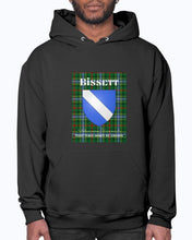 Load image into Gallery viewer, Clan Bissett Scottish Tartan & Crest Hoodie