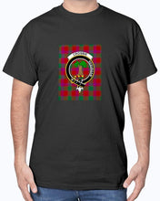 Load image into Gallery viewer, Clan Crosbie Tartan & Crest T-Shirt