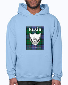 Clan Blair Scottish Tartan & Crest Hoodie