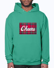 Load image into Gallery viewer, Cheers Scottish Tartan Jerzees 50/50 Hoodie