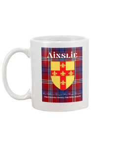 Clan Ainslie Scottish Tartan Mug