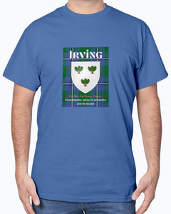Clan Irving Scottish Tartan & Crest T-Shirt