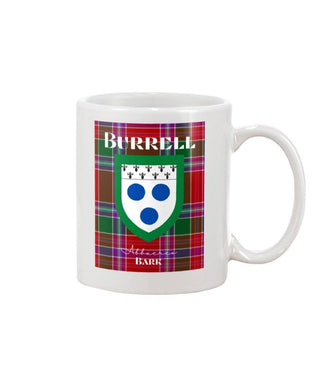 Clan Burrell Scottish Tartan Mug