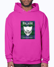 Load image into Gallery viewer, Clan Blair Scottish Tartan & Crest Hoodie