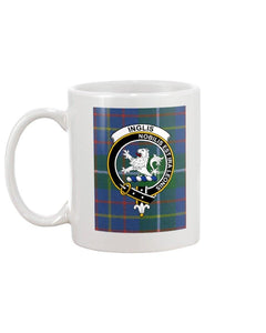 Clan Inglis  Scottish Tartan Mug