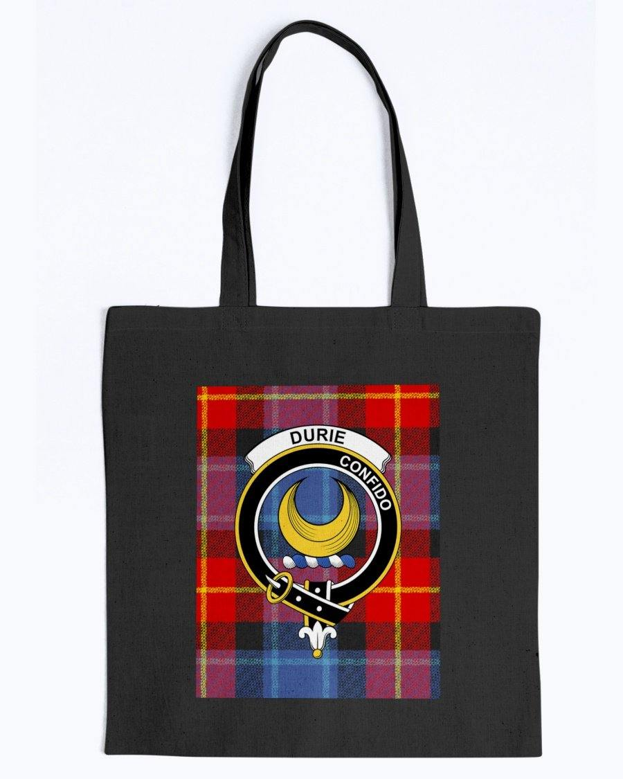 Clan Durie Scottish Tartan & Crest Tote