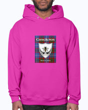 Load image into Gallery viewer, Clan Congilton Tartan & Crest Hoodie
