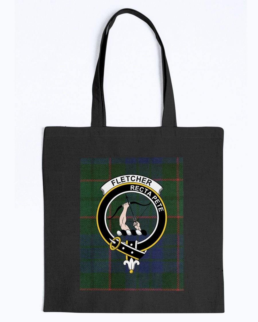 Clan Fletcher Scottish Tartan & Crest Tote