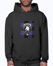 Load image into Gallery viewer, Clan Horsburgh Tartan & Crest Hoodie