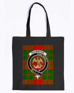 Clan Drummond Scottish Tartan & Crest Tote