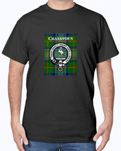 Load image into Gallery viewer, Clan Cranstoun Tartan & Crest T-Shirt