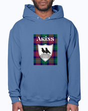 Load image into Gallery viewer, Clan Akins Scottish Tartan & Crest Hoodie