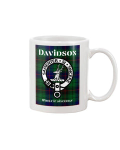 Clan Davidson Scottish Tartan Mug