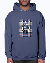 Load image into Gallery viewer, Clan Ailsa Scottish Tartan & Crest Hoodie