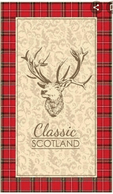 Classic Scotland Stag Tea Towel - Living Stone Gifts