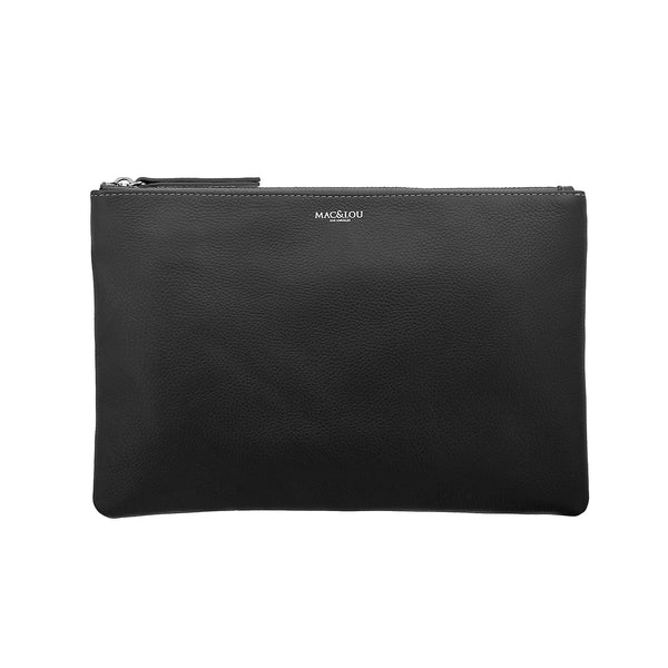 Zip Clutch Pouch Black