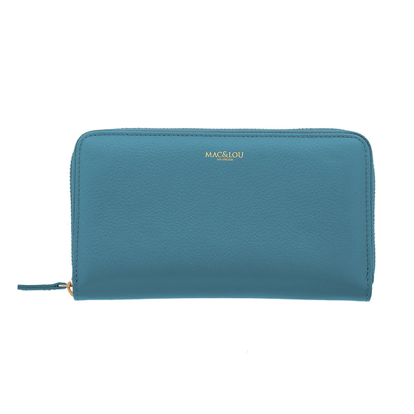 Zip Wallet Blue