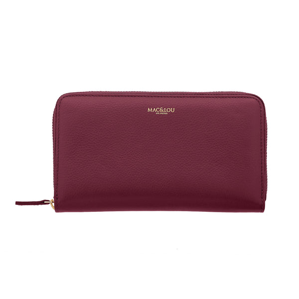 Zip Wallet Burgundy