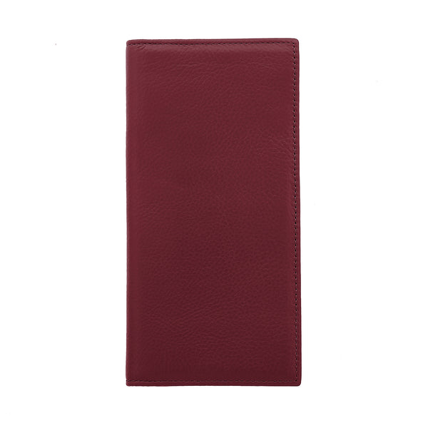 Bifold Leather Wallet Burgundy