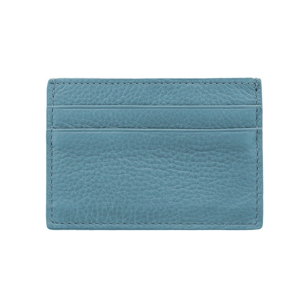 Leather Cardholder Blue