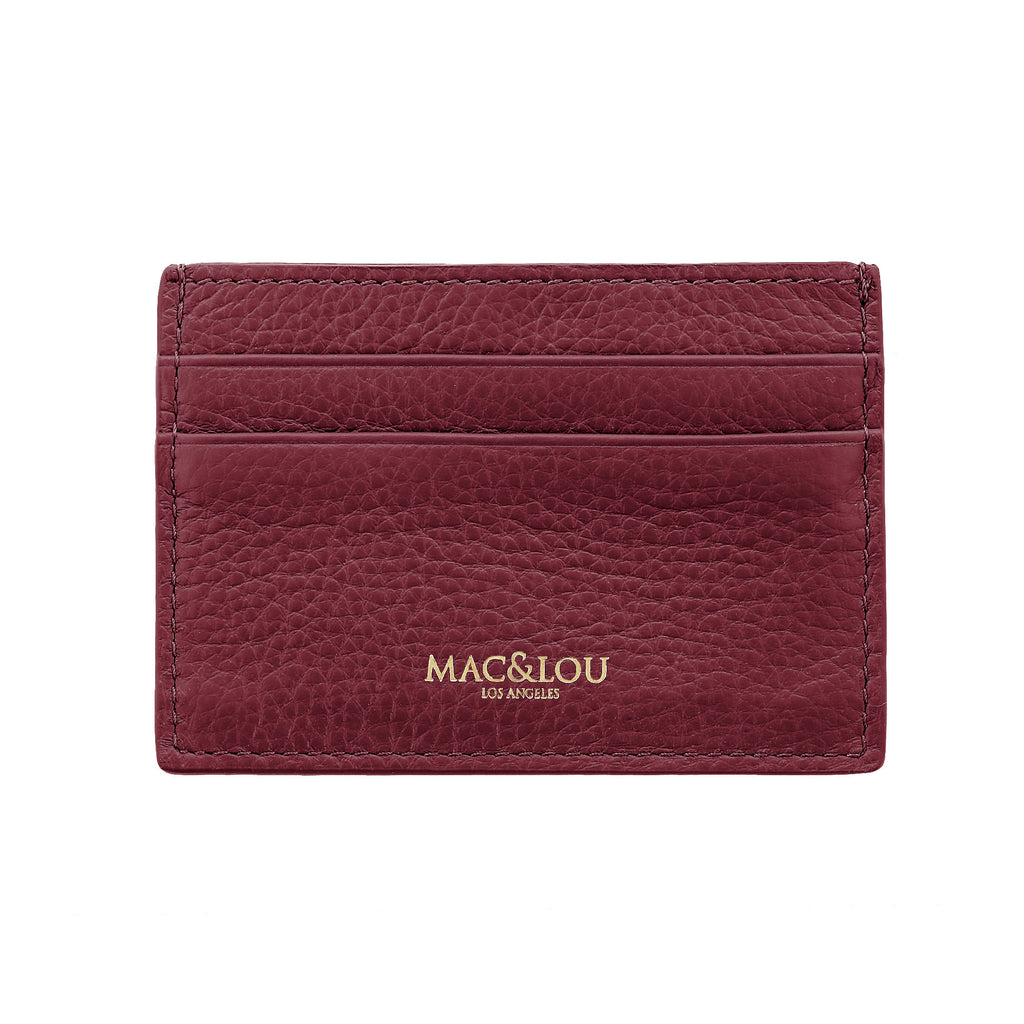 Leather Cardholder Burgundy