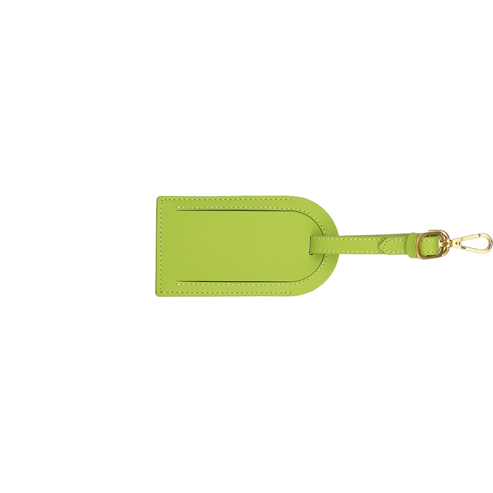 Custom Luggage Tag - Apple Green
