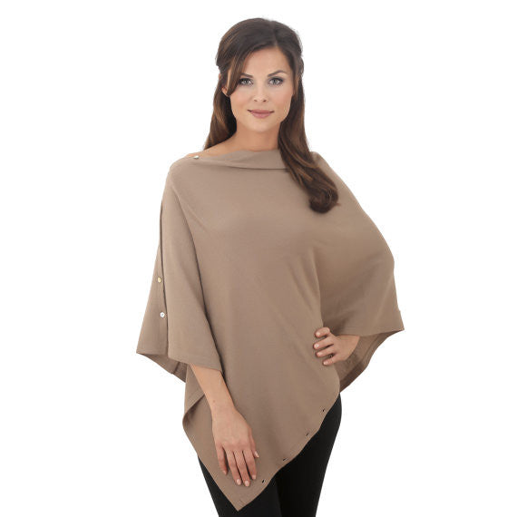 Mac&Lou Convertible Cashmere Blend Poncho Brown