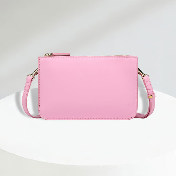 Crossbody Bag | Smooth Bubblegum Pink