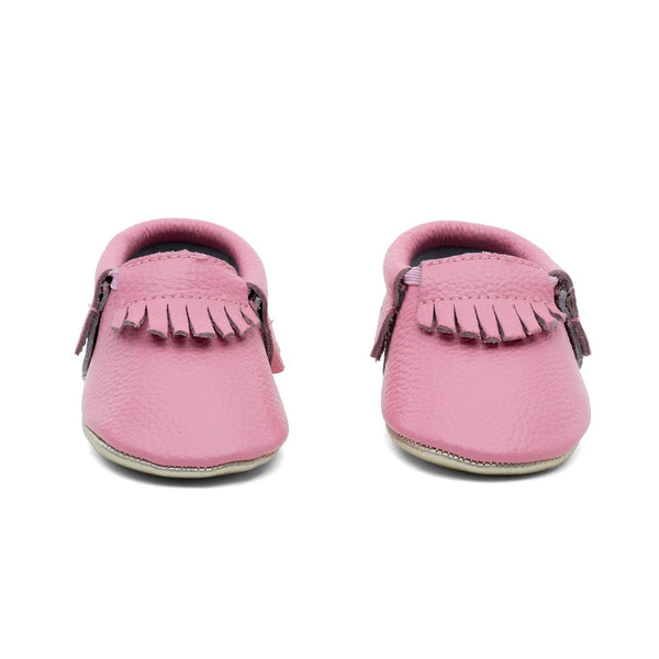 Baby Gladiator Leather Moccasins Pink/Gold