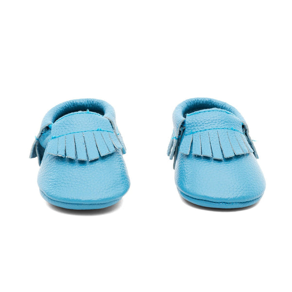 Baby Gladiator Leather Moccasins Blue