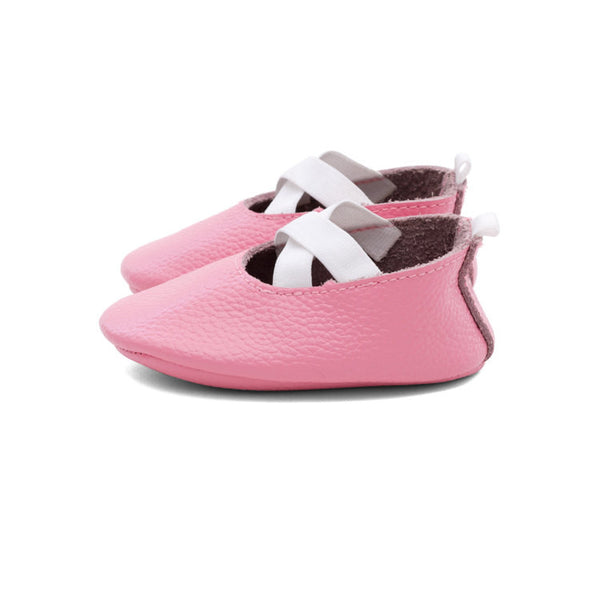 Ballerina Leather Baby Moccasins Pink