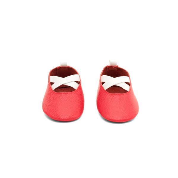 Ballerina Leather Baby Moccasins Red