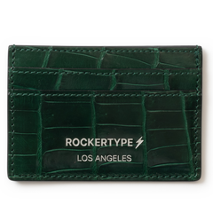 ROCKERTYPE Crocodile Cardholder - Green