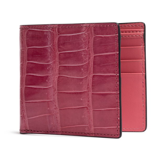 ROCKERTYPE Crocodile Leather Wallet - Pink