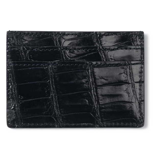 ROCKERTYPE Crocodile Cardholder - Black