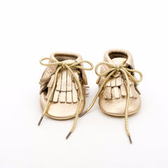 Hi-Top Baby Leather Moccasins Gold Mine