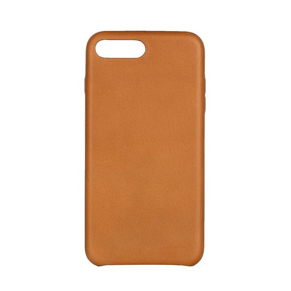 MAC&LOU Luxury iPhone 7/8 Plus Case Calfskin Leather - Tan