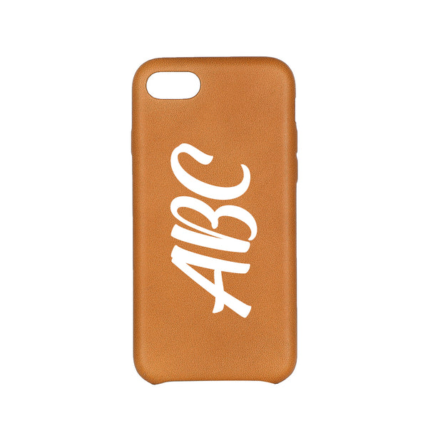 MAC&LOU Luxury iPhone 7/8 Case Calfskin Leather - Tan