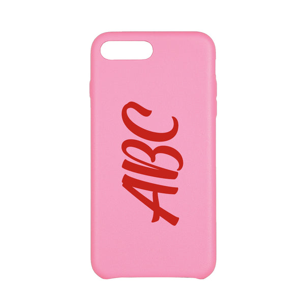 MAC&LOU Luxury iPhone 7/8 Plus Case Calfskin Leather - Pink
