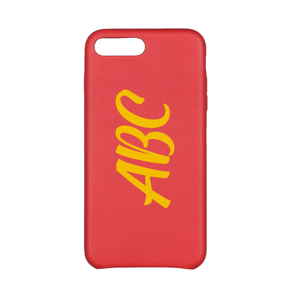 MAC&LOU Luxury iPhone 7/8 Plus Case Calfskin Leather - Red