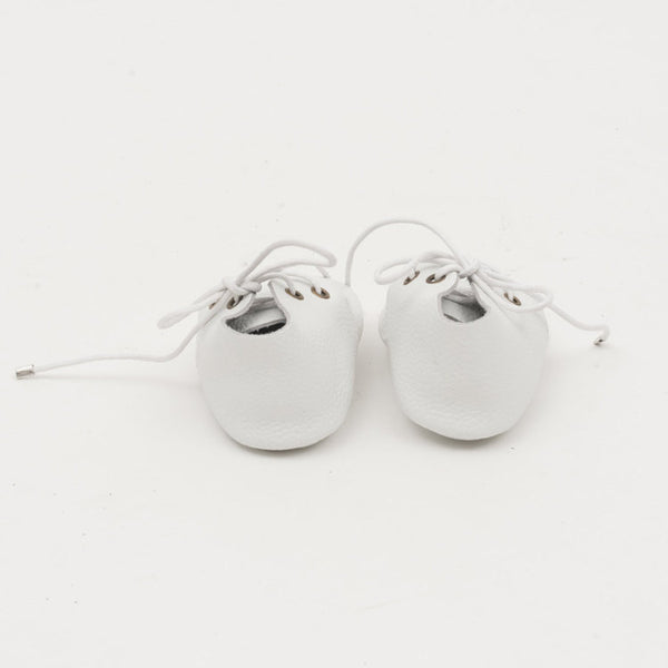 Lace-Up Leather Baby Moccasins White