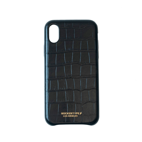 ROCKERTYPE Luxury iPhone X Case Crocodile Embossed Leather