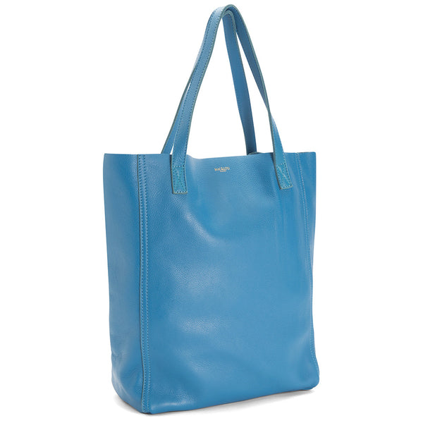 The Perfect Leather Tote Alpha Blue