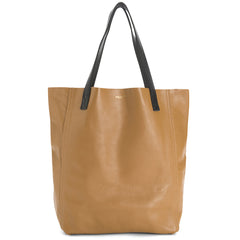 The Perfect Leather Tote Alpha Camello/Black