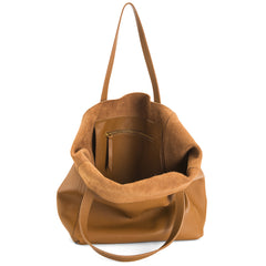 The Perfect Leather Tote Alpha Caramel