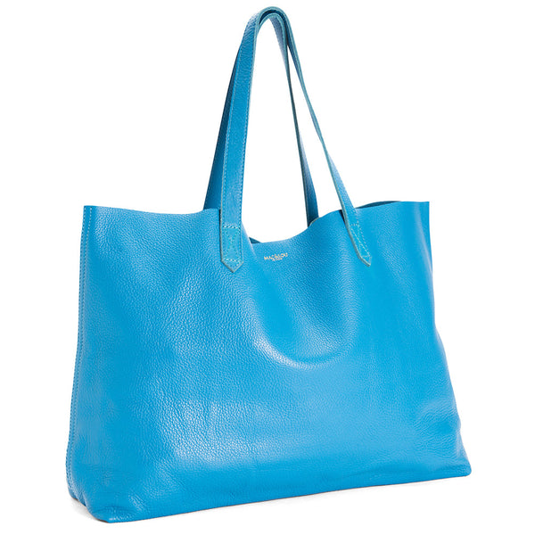 The Perfect Leather Tote 'Omega' Blue