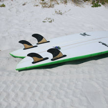 Load image into Gallery viewer, Futures Rasta Quad Fin Set