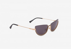 MOSCHINO OCCHIALI DA SOLE HALF-CAT EYE CON STRASS