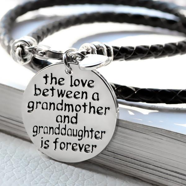 The Love Between A Grandmother and Granddaughter is Forever Bracelet